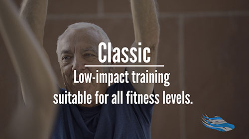 Classic low-impact group fitness for seniors