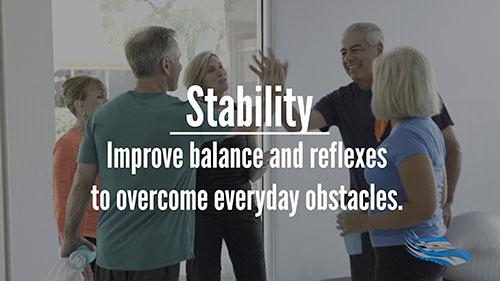Stability group fitness for seniors