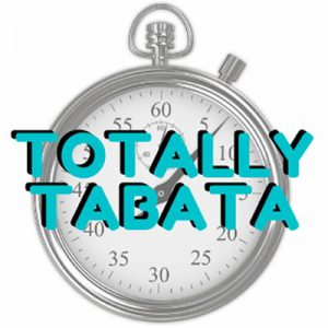 Totally Tabata logo with stopwatch