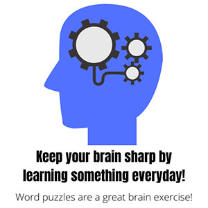 Blue head with gears - Keep your brain sharp